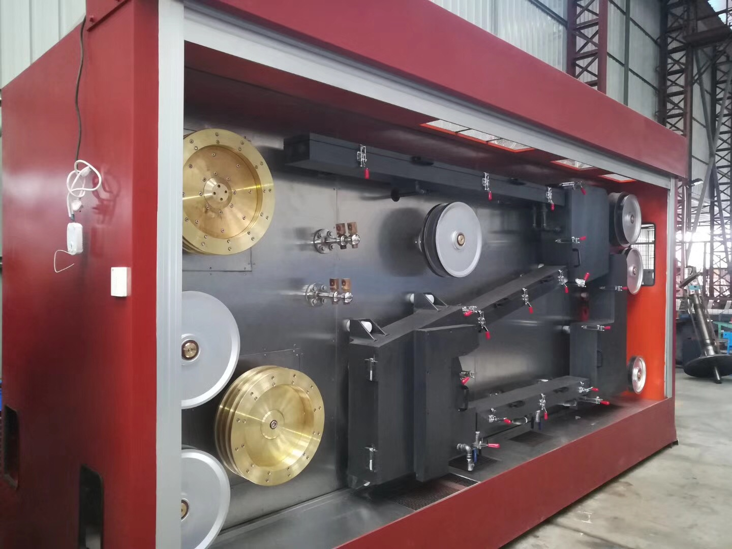 double-head copper wire drawing machine